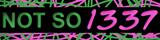 not so 1337 banner